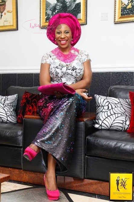 Pink, Silver and Grey Aso-ebi Style by NHN Couture- Makeup and Gele by Jagabeauty
