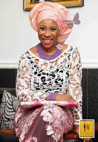 Pink Lace and Purple Accessories Aso-ebi Style by NHN Couture- Makeup and Gele by Jagabeauty