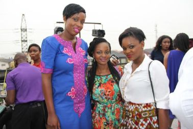 with some great MUA from left- Love Olaleye, Omobola Missglam Bolaji, Me(Jaga)