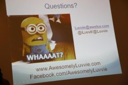 A slide from Luvvies session- SMWBlogging