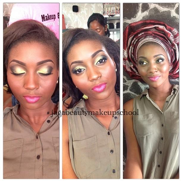 Engagement look done by Moromoke, one of JB's students #jagabeauty #jagabeautystudio #bblogger #makeup #engagementmakeup #makeupartist #training #mua #pinklips