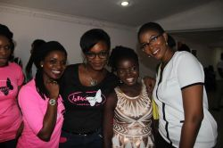 with Rema, Yemisi (N'sure Beauty) and Kunmbi (Sit Pretty)
