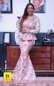 Red and White Lace Aso-ebi Style by NHN Couture- Makeup and Gele by Jagabeauty