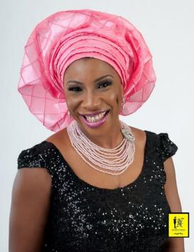 Black and Pink Aso-ebi Style by NHN Couture-Makeup and Gele by Jagabeauty