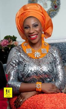 Orange and Silver Aso-ebi Style by NHN Couture-Makeup and Gele by Jagabeauty