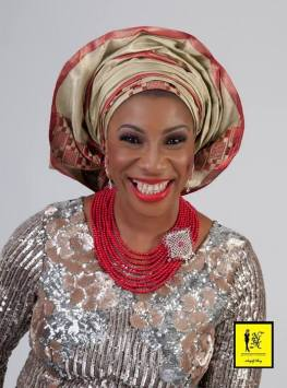 Silver, Brown and Red Aso-ebi Style by NHN Couture-Makeup and Gele by Jagabeauty
