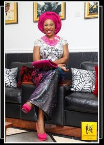 Pink, silver and gray asoebi style-NHNcouture-makeup and gele by Jagabeauty