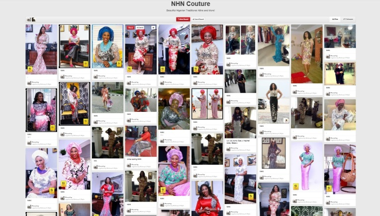 NHN Couture Pinterest Page