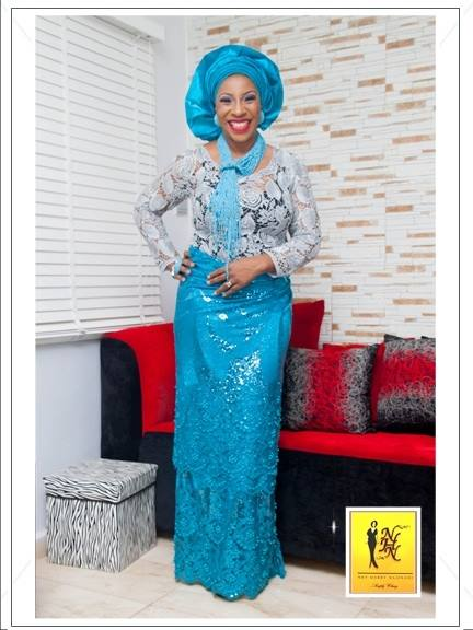 Blue Aso-ebi Style by NHN Couture- Makeup and Gele by Jagabeauty