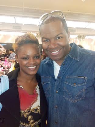 With Kimoras makeup artist, Michael