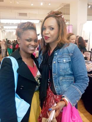 With Lise (Top Nigerian MUA )