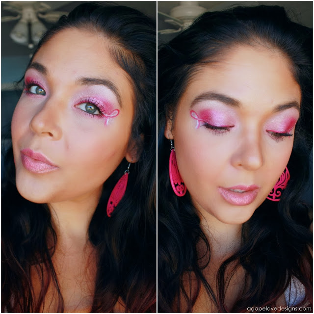 Breast Cancer Awareness, Makeup- Maria-Isabel @ Agape Love Designs