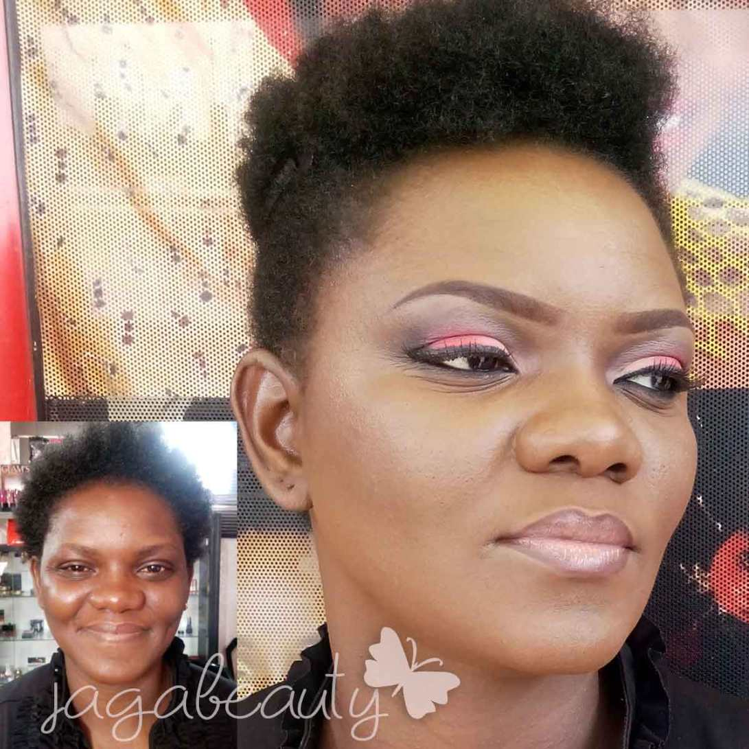 Bridal trial makeup by Jagabeauty Lagos