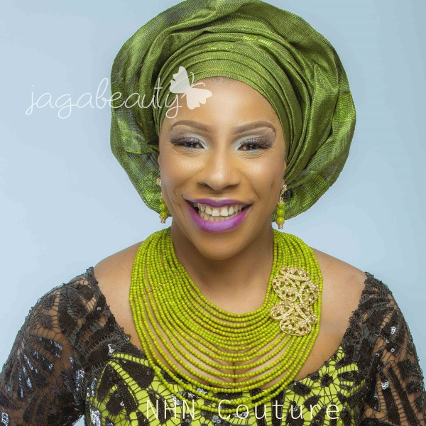 Green and Black Aso-ebi Style by NHN Couture-Makeup and Gele by Jagabeauty