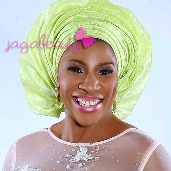 Mint Green and Light Coral Aso-ebi Style by NHN Couture-Makeup and Gele by Jagabeauty