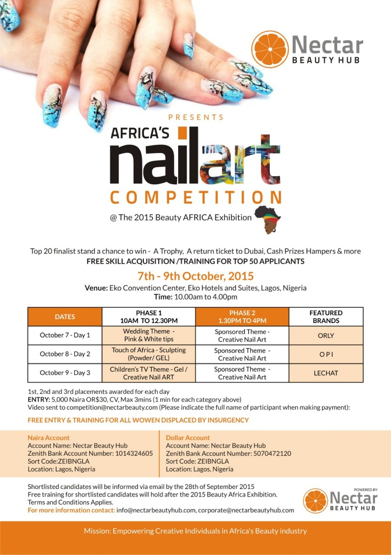 Nectar Hub_Beauty Africa 2015_NAIL-ART-COMPETITION-FLYER